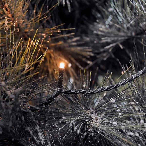 Konstsmide LED-Lichterkette 632cm lang 80 LEDs schwarz
